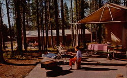 Tent Village, Colter Bay, site with 2 campers Postcard