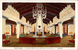 West Lounge - Edgewater Beach Hotel - Chicago Postcard
