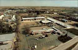 Pioneer Restaurant Motel and campground, aerial view