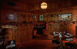 Madonna Inn's coffee shop with circular booths