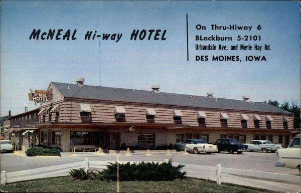 McNeal Hi-Way Hotel Des Moines Iowa