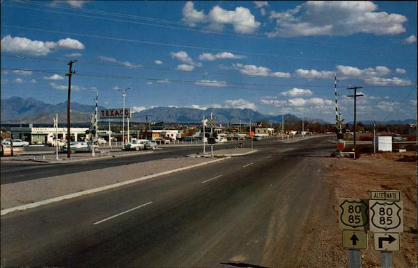 Intersection of U.S. Highways 80-80 Las Cruces New Mexico