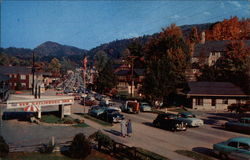 A view of the main town in Gatlinburg Tennessee
