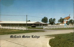 McCord Motor Lodge Postcard
