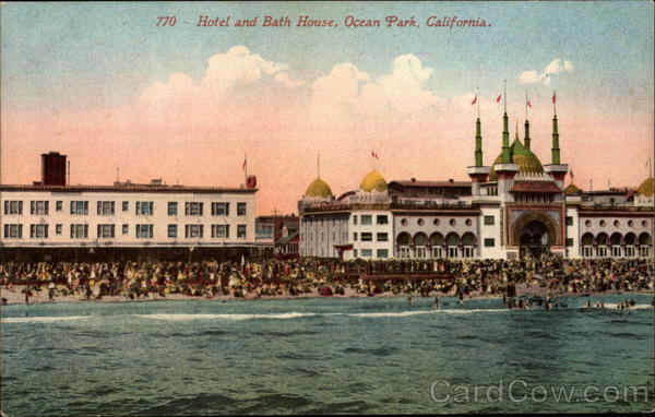 Hotel and Bath House Ocean Park California