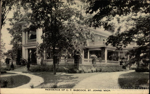Residence of C. T. Babcock St. Johns Michigan