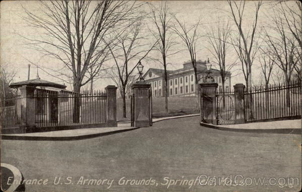 Entrance, U.S. Armory Grounds Springfield Massachusetts