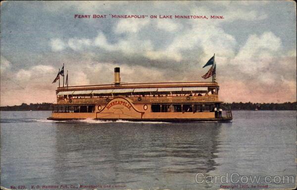 ferry boat  u0026quot minneapolis u0026quot  lake minnetonka  mn