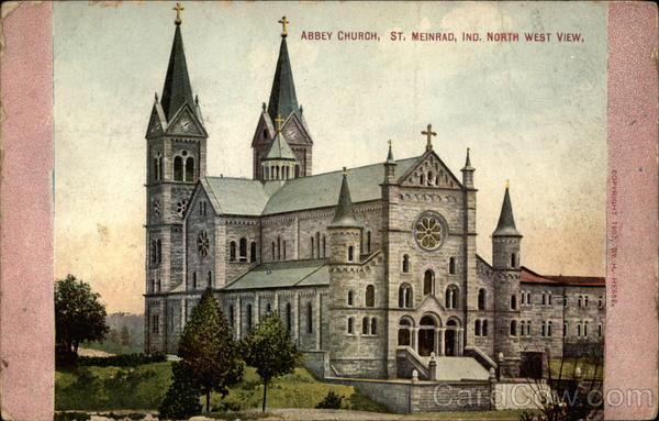 Abbey Church, North West View St. Meinrad Indiana