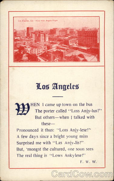 View of Los Angeles from Angels Flight California