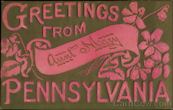 Greetings From Pennsylania blank Pennsylvania