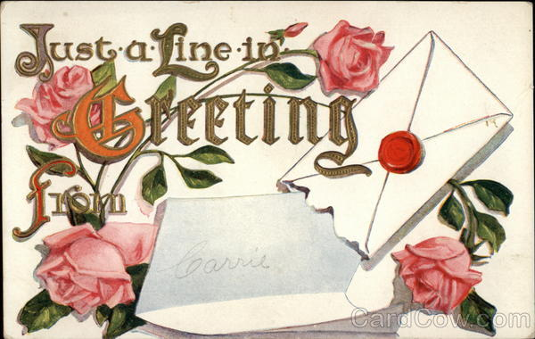 Just - a - Line - in - Greeting from Greetings