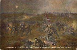 "Storming of Cemetery Hill, Gettysburg PA, by the ""Louisiana Tigers,"" July 2nd, 1863"