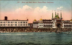 Hotel and Bath House Postcard