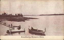 Motorboating, Merepoint, Maine