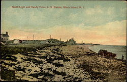 North Light and Sandy Point, L. S. Station