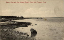 View of Buzzards Bay showing Beverly Yacht Club