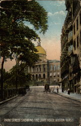 Park Street Showing the State House