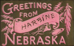 Greetings from Harbine Nebraska Postcard