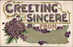 Greeting Sincere from Wauconda Wash Postcard
