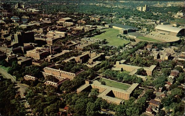 Aerial View of Minneapolis Campus, University of Minnesota