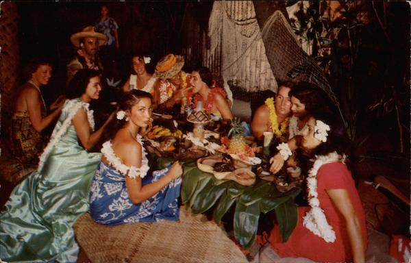 Luau feast at Don the Beachcomber's Waikiki Hawaii