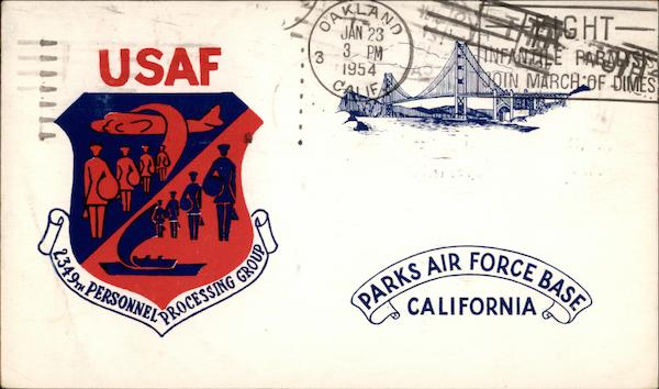 USAF 2349th Personnel Processing Group Parks Air Force Base California