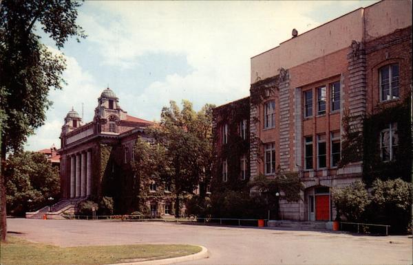 Archbold Gymnasium and the Carnegie Library of Syracuse University New York