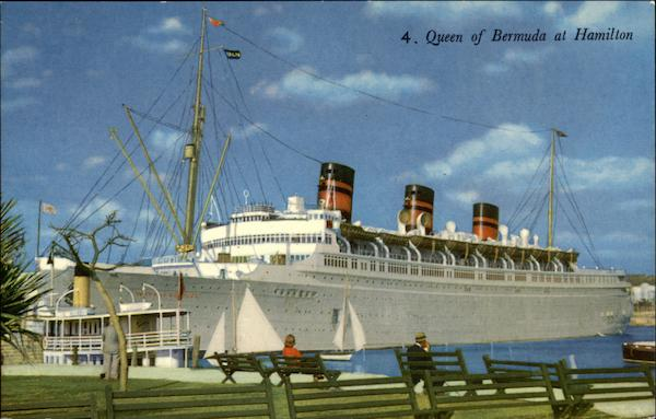 Queen of Bermuda at Hamilton Cruise Ships