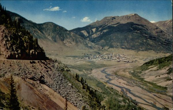 Silverton as Seen From the Million Dollar Highway Colorado