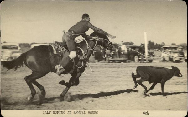 Calf Roping at Annual Rodeo Rodeos