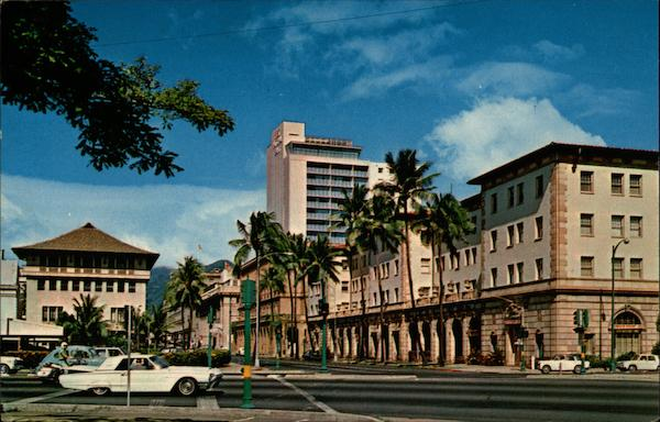 Bishop Street in Honolulu Hawaii