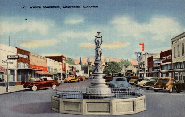 Boll Weevil Monument Enterprise Alabama