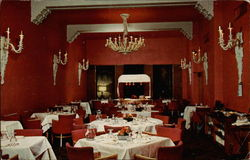 Inside the Red Dining Room at the Bannock Hotel