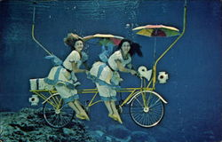 Weeki Wachee Mermaids on Bicycle Built for Two