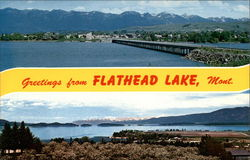 Greetings from Flathead Lake, Mont Postcard