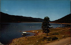 Overlooking the Boat Dock on the Beautiful Vallecito Lake Postcard