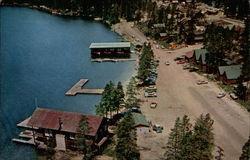 Grand Lake's Beach, Yacht Club, aerial view