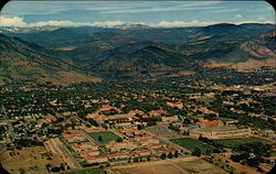 Panorama of the University of Colorado Campus from the air