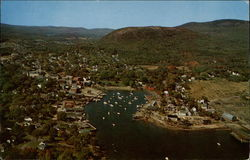 Air View of Camden, Maine Postcard