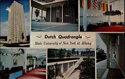 Views of Dutch Quadrangle at State University of New York Postcard
