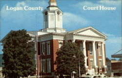Logan County Court House Postcard