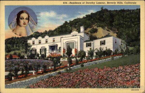 Residence of Dorothy Lamour Beverly Hills California