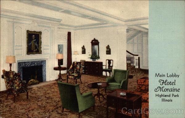 Main Lobby Of Hotel Moraine On The Lake Highland Park Illinois