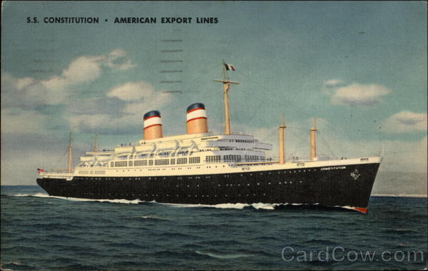 S.S. Constitution - American Export Lines Boats, Ships