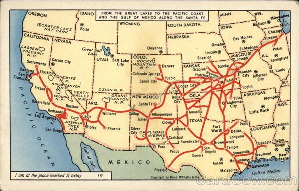 Santa Fe Railway System Maps