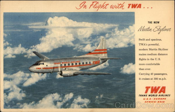 In Flight with TWA Aircraft