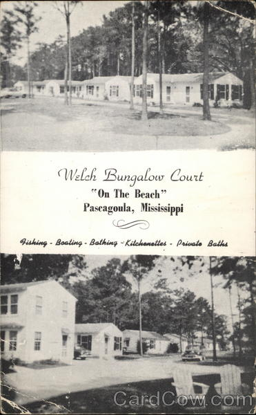 Welch Bungalow Court On The Beach Pascagoula Mississippi
