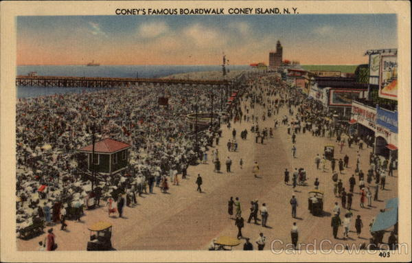 Coney's Famous Boardwalk Coney Island New York