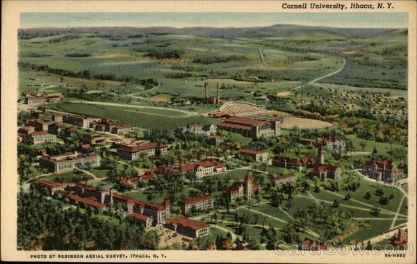 Aerial View of Cornell University Ithaca New York